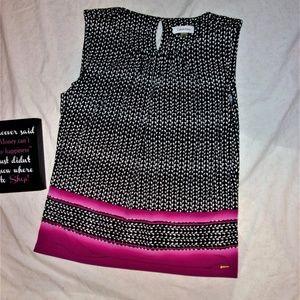 womans xl extra large Calvin Klein shirt top black